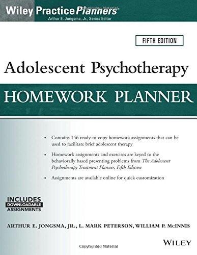 Adolescent Psychotherapy Homework Planner (PracticePlanners)
