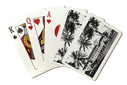 Honolulu, Hawaii View of Federal Bldg and Post Office Photograph (Playing Card Deck - 52 Card Poker Size with Jokers)