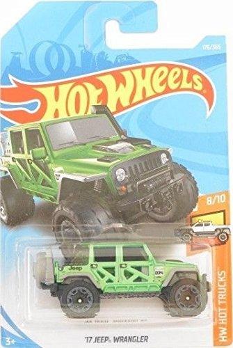 Hot Wheels 2018 50th Anniversary HW Hot Trucks '17 Jeep Wrangler 176/365, Green