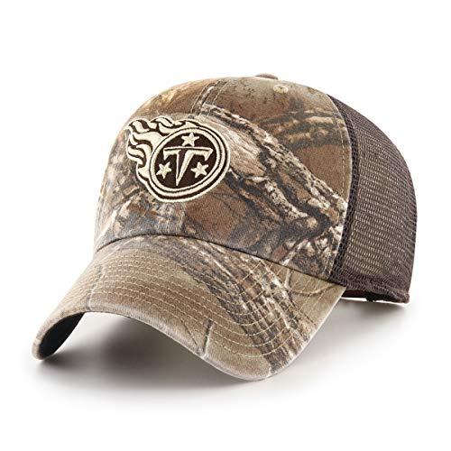 NFL Tennessee Titans Men's Ledgewood Realtree OTS Challenger Adjustable Hat, Team Color, One Size