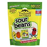 Yummy Earth Natural Sour Jelly Beans Real Fruit Extracts Family Bag 7 oz Pack Of 6