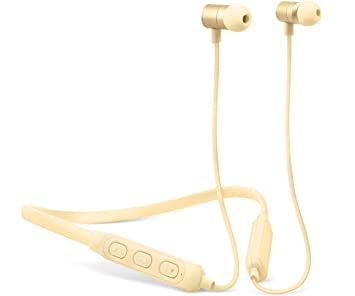 Fresh n Rebel Band-it - Auriculares Bluetooth inalámbricos deportivos, color beige (