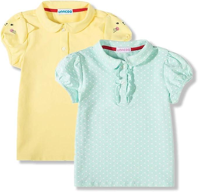 Girls Short Sleeve Cat Top New Kids Stretch Summer T-Shirt Tee Age 3-12 Years