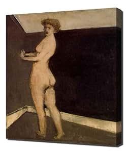 The sin by Franz von Stuck - Pintura en lienzo