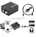 Exiron Optical Coaxial Toslink Digital to Analog Audio Converter Adapter RCA L/R 3.5mm