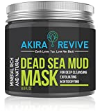 Cleansing Drink At Home - Akira Revive Dead Sea Mud Mask For Face, Acne, Oily Skin & Blackhead Remover - Best Facial Pore Clean Up, Reducer & Pores Cleanser Treatment - Natural For Younger Looking Skin. Black Mask 8.8 oz.