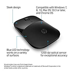 HP Wireless Mouse Z3700, Black (V0L79AA#ABL)