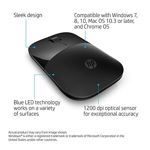 HP Wireless Mouse Z3700 Black V0L79AAABL