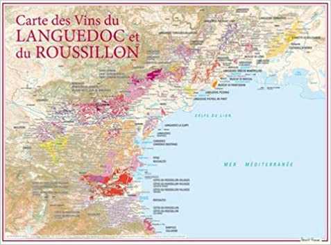 Carte Languedoc Roussillon.Amazon Fr Carte Des Vins Du Languedoc Et Du Roussillon