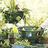 """6 x 14"""" Easy Fill Hanging Baskets (Green)"""