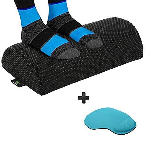 Office Foot Rest Under Desk – Leg Rest Under Desk Footrest Ergonomic with Anti Slip Resilient Orthopedic Foam Design to Relieve Knee Pain, Aching Sore Feet. Ideal Computer foot stool Black .