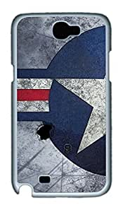 Air Force Insignia TPU Silicone Case Cover for Samsung Galaxy Note II N7100 White