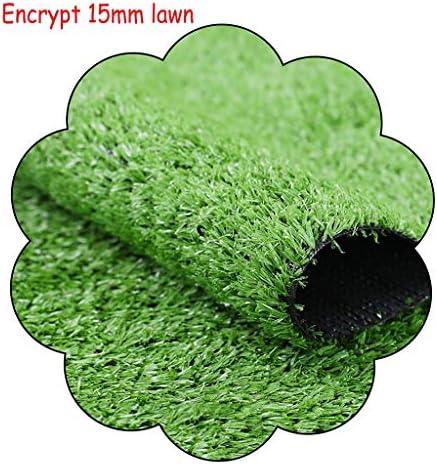 XEWNEG 成人工芝、パイル高さ15mm、偽造人工芝を暗号化し、自然で現実的な庭の屋外ペット犬の壁の装飾の芝生 (Size : 2x9M)