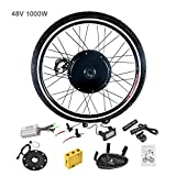 Murtisol Electric Bicycle Motor Conversion Kit-LCD Meter 48V 1000W 26'' Front Wheel E-Bike