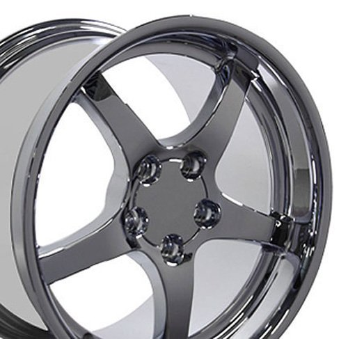 - OE Wheels 18 Inch Fits Chevy Camaro Corvette Pontiac Firebird C5 Deep Dish Style CV05 Chrome 18x10.5 Rim Hollander 5122 REAR ONLY