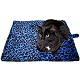 "Downtown Pet Supply Thermal Cat Pet Dog Warming Bed Mat - BLUE, (Leopard Motif) 22"" L x 19"" W"