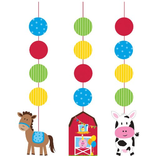 [Creative Converting Farmhouse Fun Printed Hanging Cutouts (3 Count)] (Best Group Halloween Costumes Ideas)