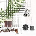 Tree-it-Life-Adattatore-per-Capsule-caffe-per-Nespresso-Vertuoline-Trasferimento-in-Acciaio-Inossidabile-per-Capsule-riutilizzabili-per-Filtro-Nespresso-Argento