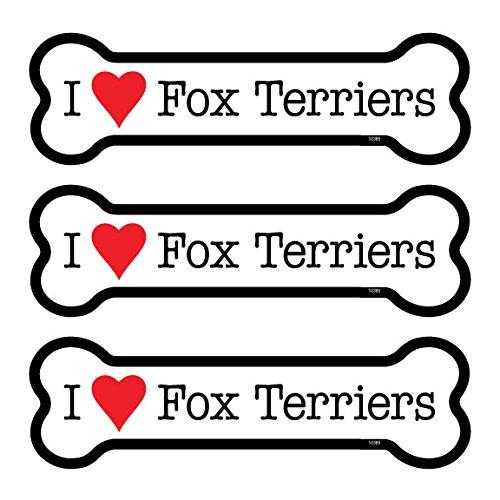 SJT25385 SJT ENTERPRISES Fox Terriers 3-Pack of 2 x 7 Bone Shaped Car Magnets INC
