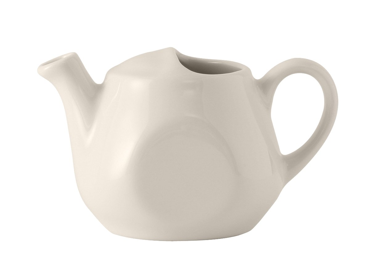 Tuxton BET-1601 Vitrified China Tea Pot Lidless, 16 oz, Eggshell (Pack of 12), Oven-Microwave-Pressure Cooker Safe; Freezer to Oven Safe