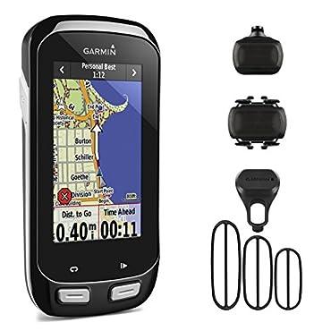 Garmin Edge 1000 GPS Cycling Computer Bundle with Speed and Cadence Sensor Bundle