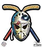 vintage hockey - Hockey Mask Crossed Sticks Retro Vintage Style - 3
