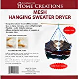 Innovative Home Creations Mesh Hanging Sweater Dryer, 26-Inch Diameter, White