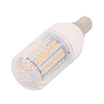 sourcingmap® AC110V 5W 56 x 5736E14 SMD LED Luz Lámpara de maíz blanco cálido de