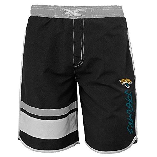 NFL by Outerstuff NFL Jacksonville Jaguars Youth 8-20 Swim Trunk, Large (14-16), Black