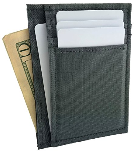 Vegan Deluxe Front Pocket Wallet with Cordura Nylon Canvas (Handmade in California by NIC GIOR) (Olive (Mens Deluxe Front Pocket Wallet)
