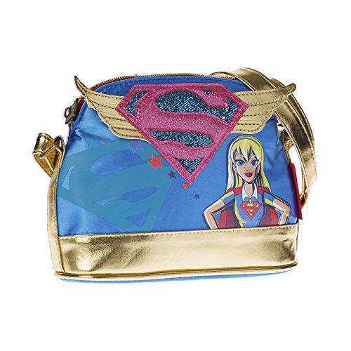 Karactermania 93921 DC Super Hero Girls Borsa Messenger, 20 cm, Blu