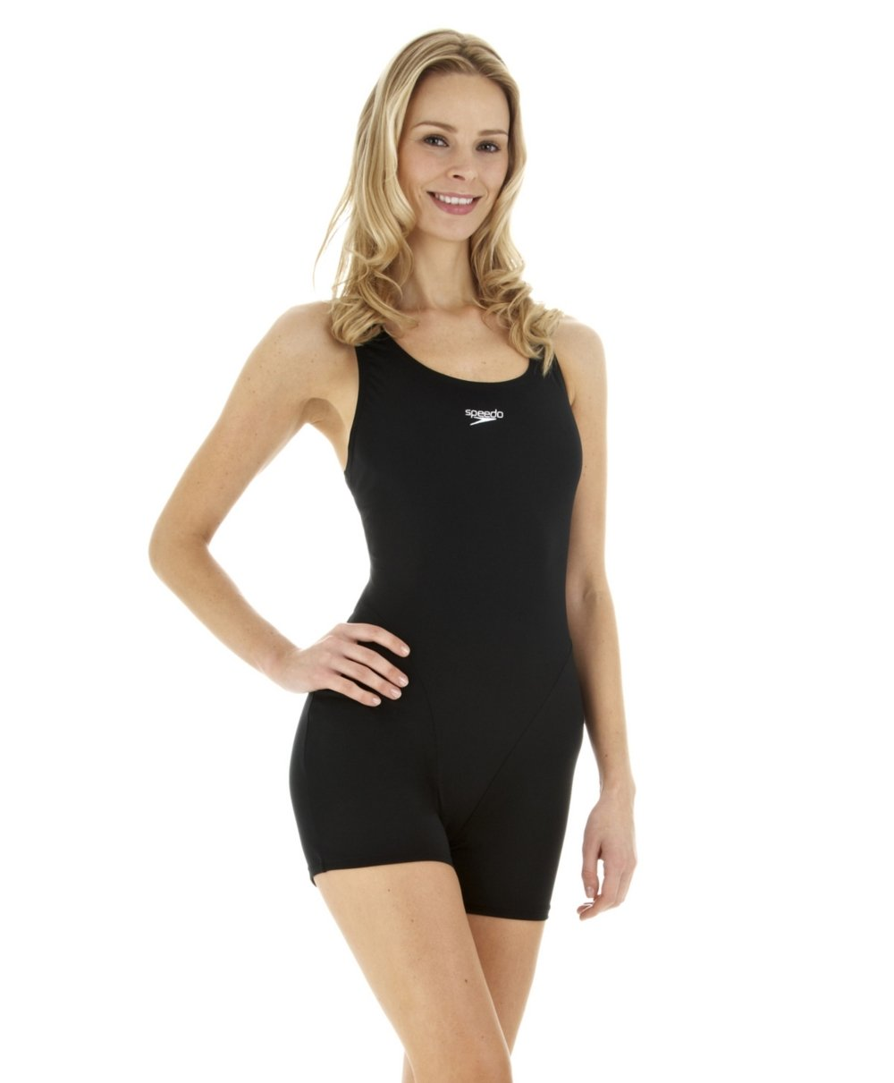 8a5557a5678d Amazon.com   Speedo Myrtle Legsuit Swimsuit - Black   Sports   Outdoors