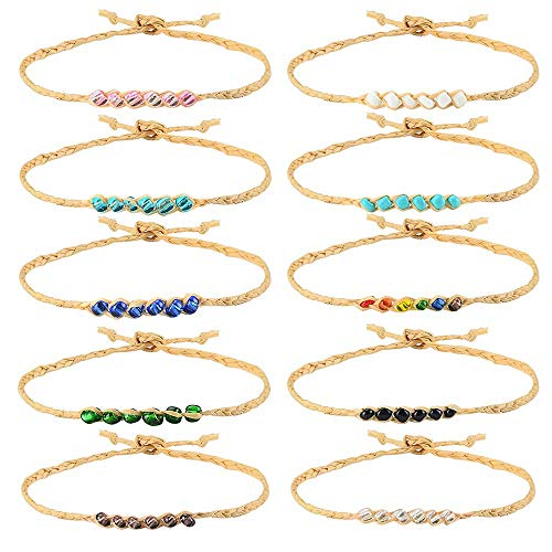 - Tarsus 100% Waterproof Friendship Bracelet-10Pcs Braided Woven Wish Friendship Bracelets Set for Women Girls String Handmade Beaded Hemp Adjustable Birthday Gift Jewelry