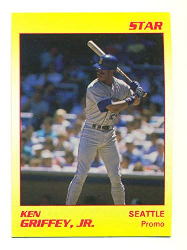 - 1990 Star Ken Griffey Jr. Promo Card Yellow #NNO Very Rare Seattle Mariners