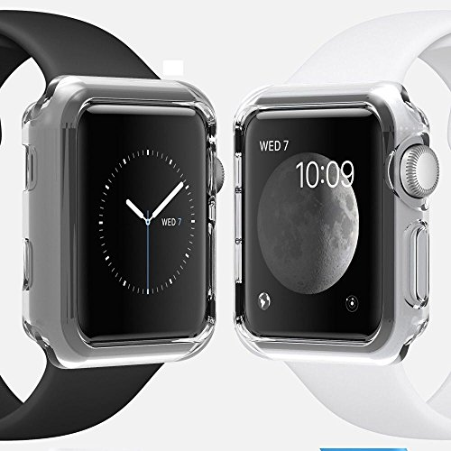 Price comparison product image Apple Watch 38mm Series 1 Case, Crystal Clear Ultra Thin Waterproof Soft TPU Cover Case For Apple Watch 38mm Series 1 (Crystal Clear)