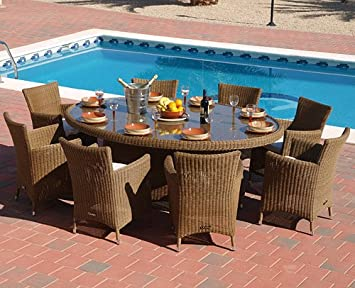 Bahama Dining Set In Latte Weave Colour