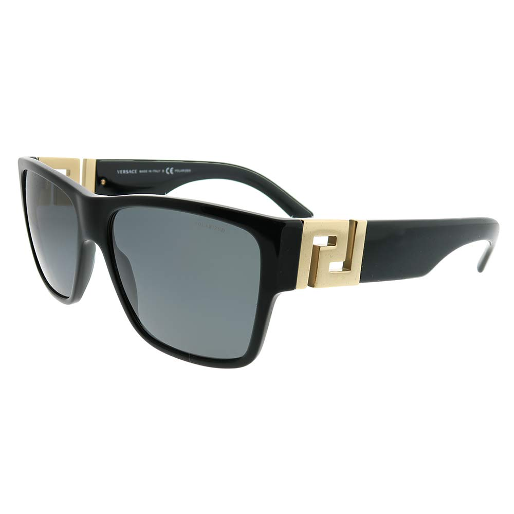 versace Man Sunglasses, Black Lenses Acetate Frame, 59mm by Versace