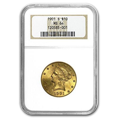 1901 S $10 Liberty Gold Eagle MS-64 NGC G$10 MS-64 NGC