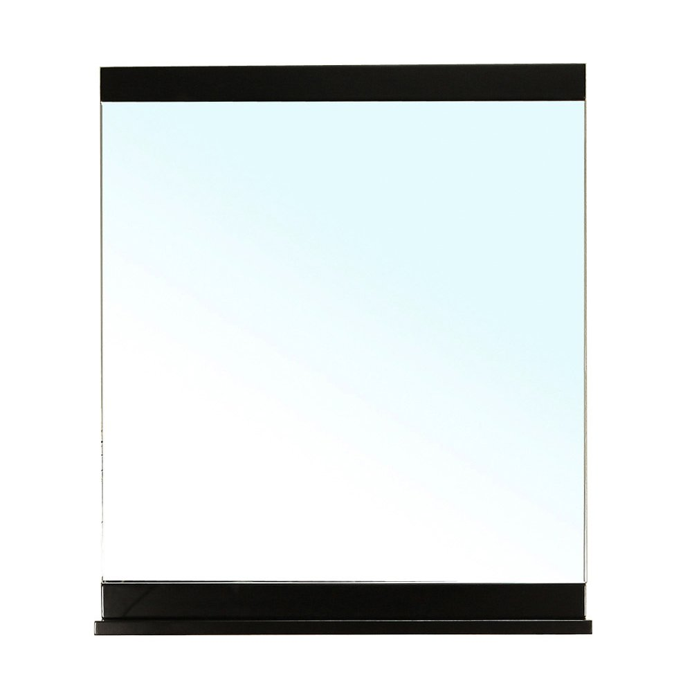 Bellaterra Home 203131-MIRROR-B Solid Wood Frame Mirror, Black