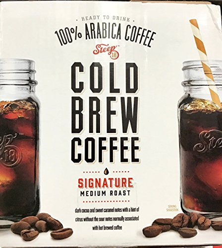 Steep 18 - Medium Roast Cold Brew Coffee - 3 Pack - Value Pack!