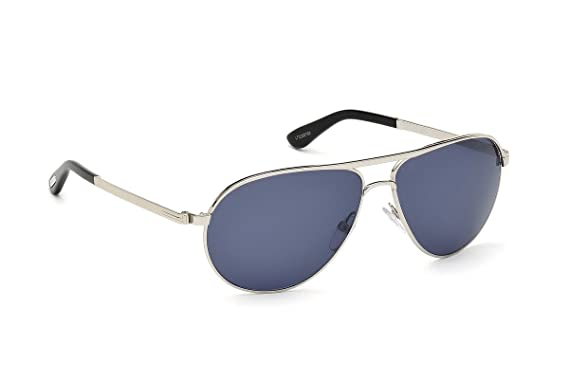 706385fe365 Tom Ford Ft0144 s Marko Aviator Metalic Blue Polarized Sunglasses ...