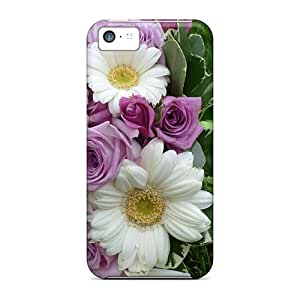 Waterdrop Snap-on Gerberas Roses Cases For Iphone 5c