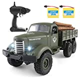 Rc Cars Q60, Rc Military Truck Off-Road Crawler Rc Trucks, 1:16 Scale 6WD 2.4Ghz Remote Control Trucks Army Cars Toys for Adults and Kids.