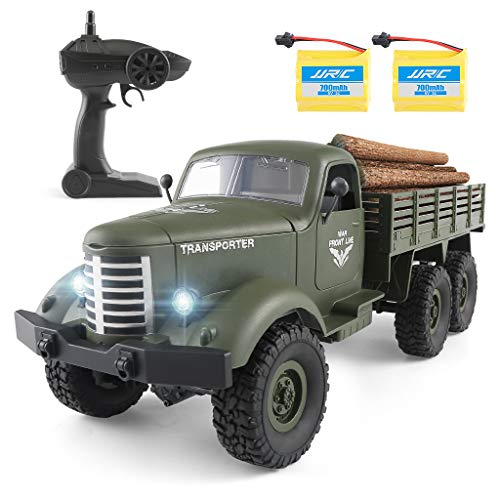 Rc Cars Q60, Rc Military Truck Off-Road Crawler Rc Trucks, 1:16 Scale 6WD 2.4Ghz Remote Control Trucks Army Cars Toys for Adults and Kids. (Trail Rc Truck 6x6)