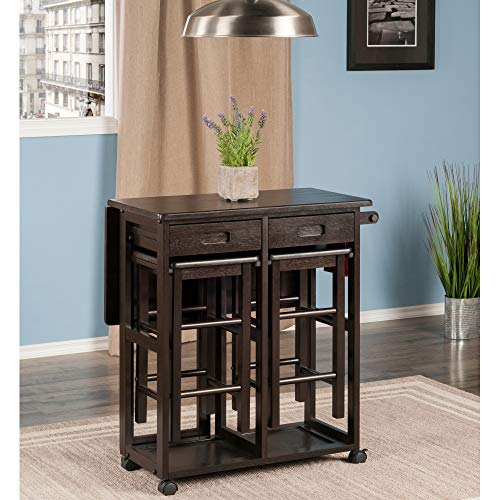 Winsome Wood 23330 Suzanne 3-PC Set Space Saver Kitchen, Smoke by Winsome Wood (Image #2)