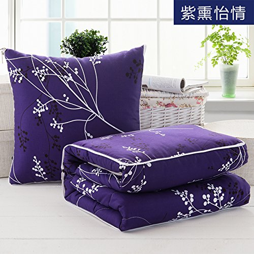 Pillow Blanket Cartoon lovely elephant pillow quilt two multi-car pillow cushion fold afternoon nap blankets are air-conditioning ,100170cm