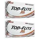 2pk Top Flite XL Distance Golf Balls - Orange - 36 Balls