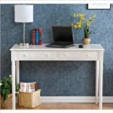 Holly & Martin Parker 2-Drawer Writing Desk WHITE