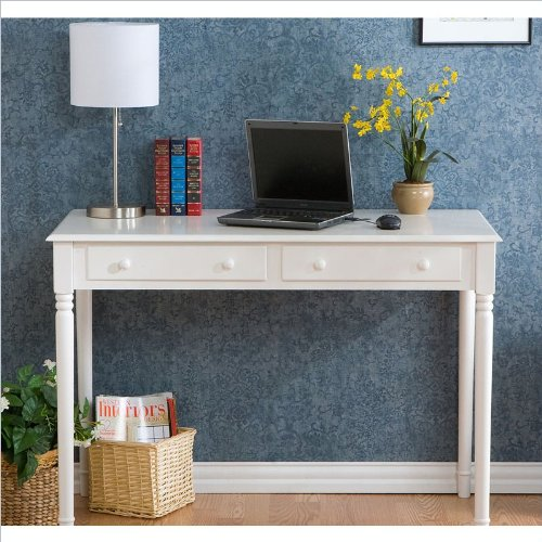Holly & Martin Parker 2-Drawer Writing Desk WHITE by Holly & Martin