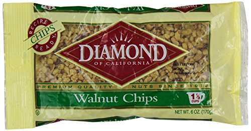 Diamond of California, Walnut Chips, 6 Ounce (Pack of 12) by Diamond Nuts of California